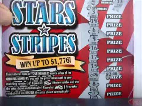 SCRATCH OFF 2 OHIO INSTAND LOTTERY TICKETS, STARS STRIPES AND WIN IT ALL - YouTube