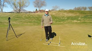 How to Setup Putting with Golf Pucks Swing Trainer
