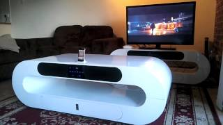 Smart coffee table, intelligent furniture the ultimate iPhone dock