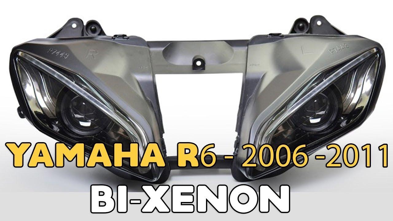 Yamaha R6 2006 2016 Double Xenon Projector Installation Youtube