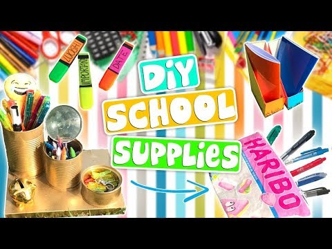 5 DIY BACK TO SCHOOL SUPPLIES 2017  (FAI DA TE X LA SCUOLA)