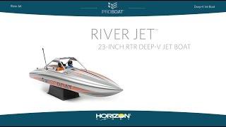 Load Video 1:  Pro Boat River Jet™ 23-inch RTR Deep-V Jet Boat  RTR
