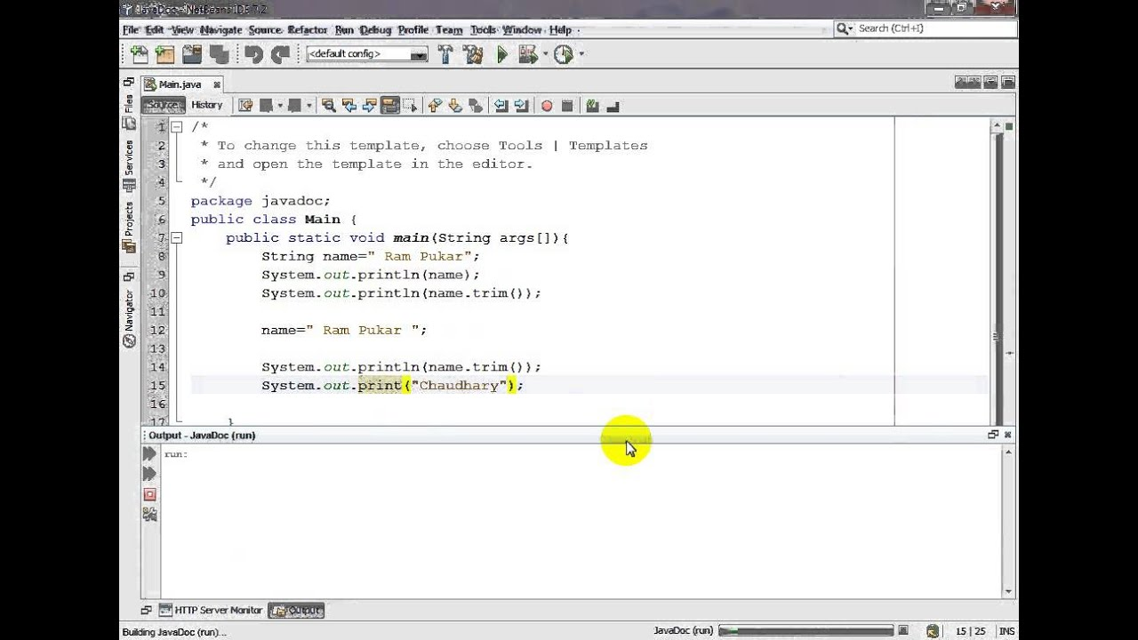 how to make a run method java