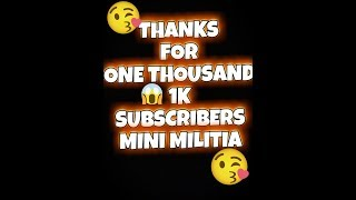 1000 SUBSCRIBERS Special mini militia sniper montage (MUST WATCH)