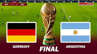 Germany vs Argentina Final FIFA World Cup 2022 eFootball PES 2021