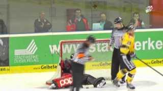 Eishockey: Saisonvorbereitung: EV Duisburg - Krefeld Pinguine 1:2 n.P.