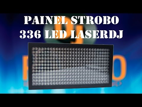 Review Painel Strobo 336 LED LASERDJ (Menu,DMX,Automático,Som...)