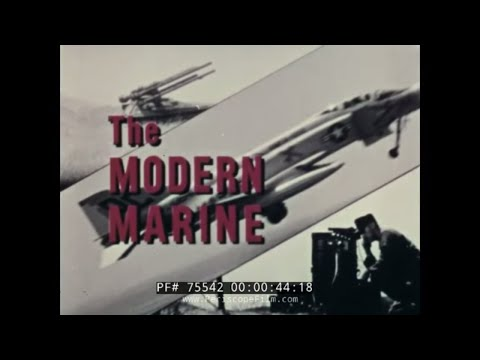 "USMC MARINE CORPS ""THE  MODERN MARINE"" 1960s RECRUITING FILM  75542"