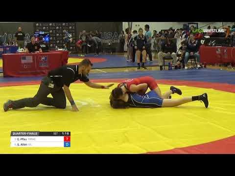 Womens Freestyle 50 Quarter-Finals - Cody Pfau (TMWC) vs. Sarah Allen (UC)