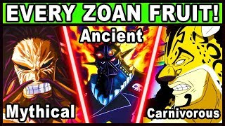 All Zoan Users and Their Powers Explained! (One Piece Every Devil Fruit)