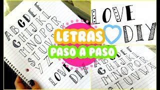 Baixar LETRAS BONITAS PASO A PASO ! ♥♥