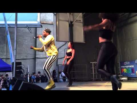 Todrick Hall performing his new single Low at Pride Toronto 2015 opening party