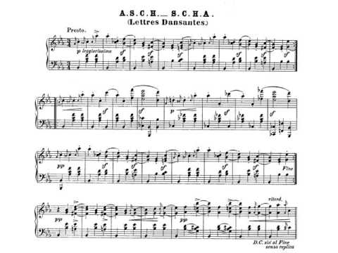 Schumann  Carnaval Op  9  6  Florestan  Partitura  Audición  - YouTube