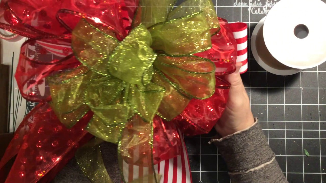 How To Make A Large Bow, A Layered Bow, Christmas Tree Bow
