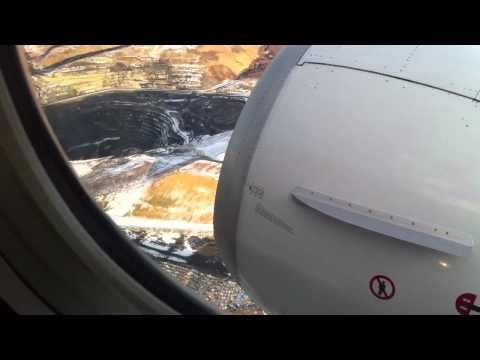 Alaska Airlines taking  off Red Dog Mine