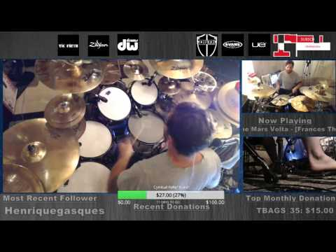 The Mars Volta - Frances the Mute FULL DRUMS live from www.twitch.com/danwind86