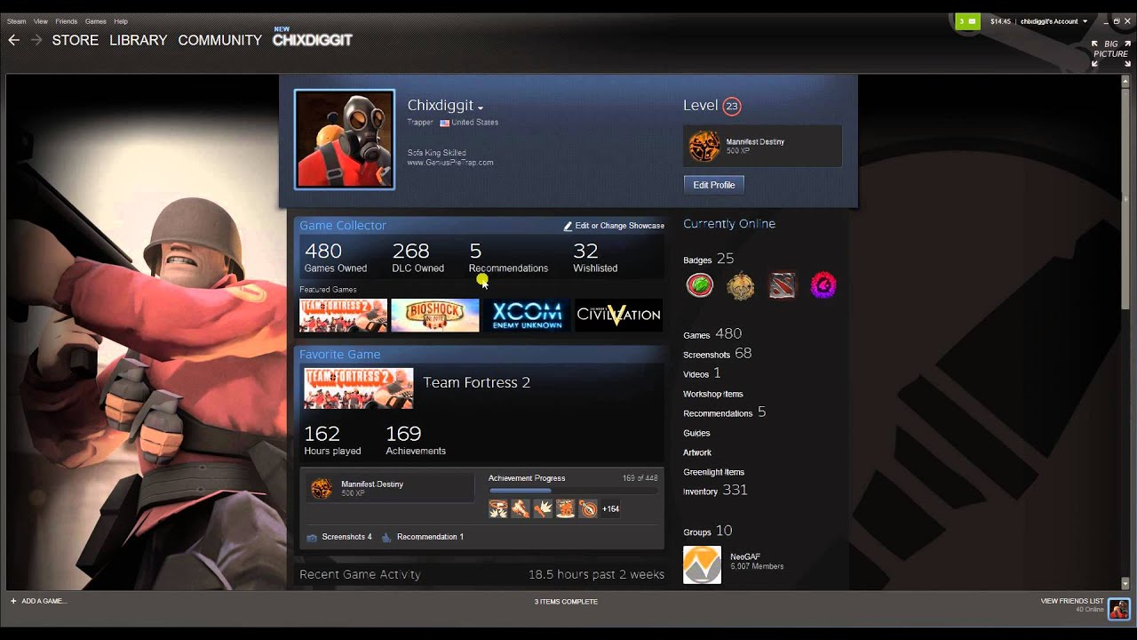 steam how to change background profile