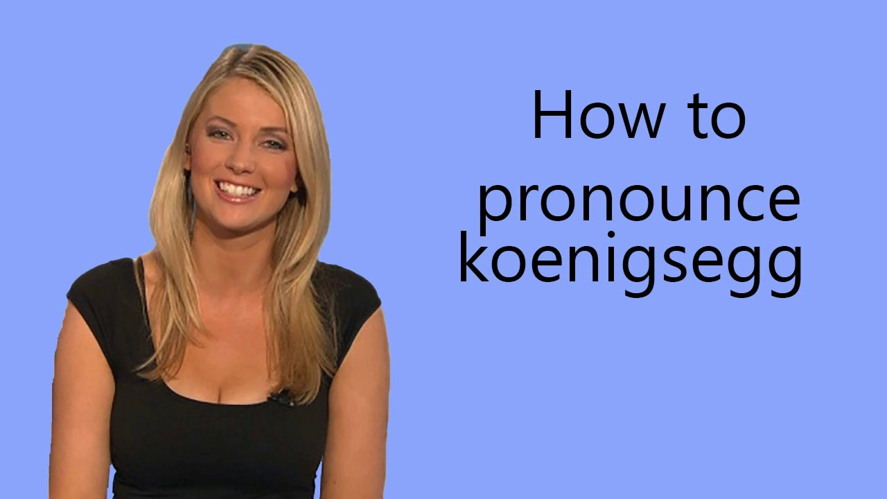 How to pronounce koenigsegg - YouTube