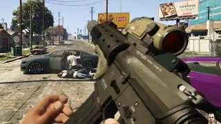 Grand Theft Auto 5: First Person Mode Gameplay Video (PS4/PC/Xbox one) HD