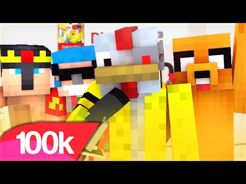 100.000 POLLITOS 🎤 PARODIA MUSICAL MINECRAFT ESPECIAL 100K | J Balvin, Willy William - Mi Gente