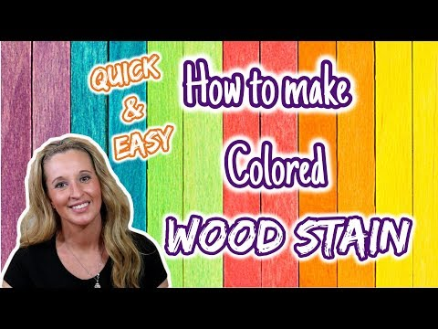 How to dye wood stain
