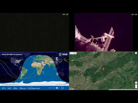 Orbital Sunset Over Asia - ISS Space Station Earth View LIVE NASA/ESA Cameras And Map - 58