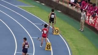 2016 茨城県中学新人陸上 男子4x100mR決勝