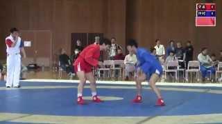 第12回東日本サンボ選手権大会:男子57kg級巴戦第1試合 守屋直樹vs仲村暁人