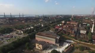 Полёт над заводами в Запорожье
