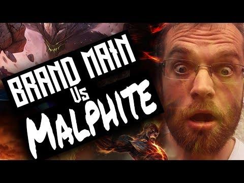 Brand Mid vs malphite - live commentary gameplay