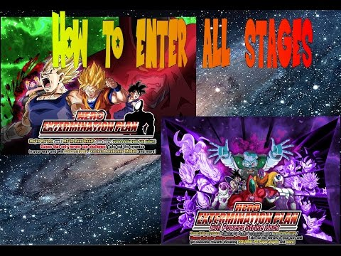 Dokkan Global! How to enter all Hero Extermination Plan Missions!!