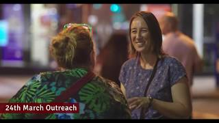 A night of Outreach in King George Square Brisbane
