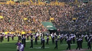UW Whitewater Marching Band @Lambeau Field 9/10/17
