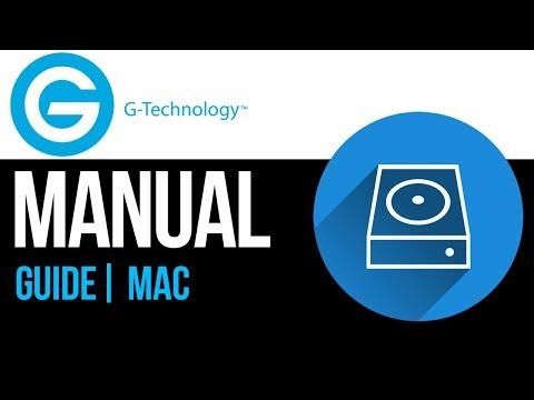 G-Technology external hard drive Set Up Guide for Mac 2019