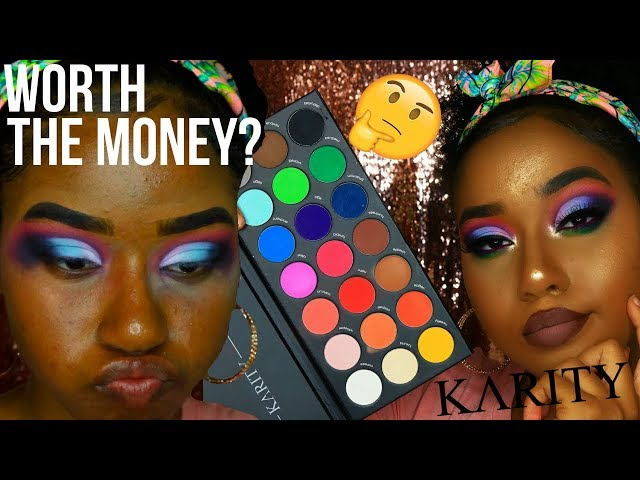 KARITY 21 MATTE PALETTE REVIEW, SWATCHES AND TUTORIAL!! ||| MORPHE 35B WHO??