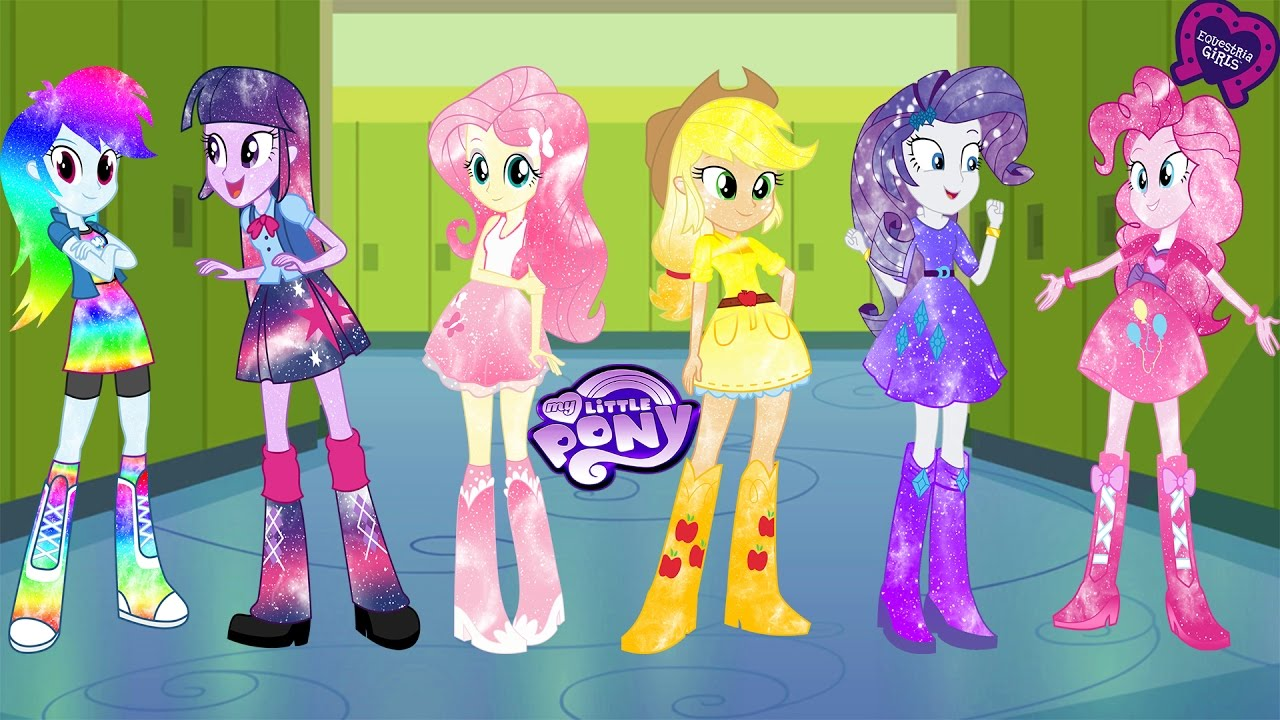 - My Little Pony Equestria Girls Transforms Into Galaxy Mane 6 EG