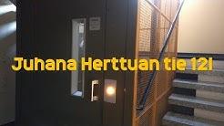 Hissivideo: Juhana Herttuan tie 12I, Koskela, Helsinki - 1973 KONE V (manuaaliovinen)