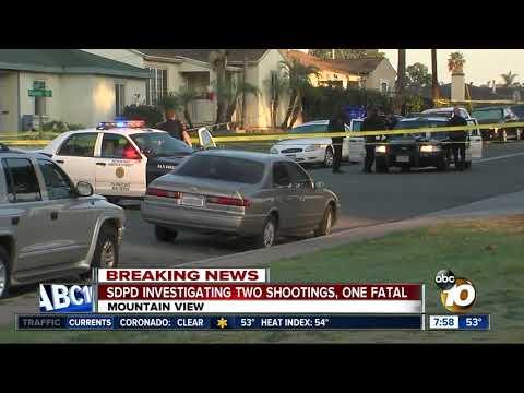 1 killed, 1 injured in two separate San Diego shootings just miles apart