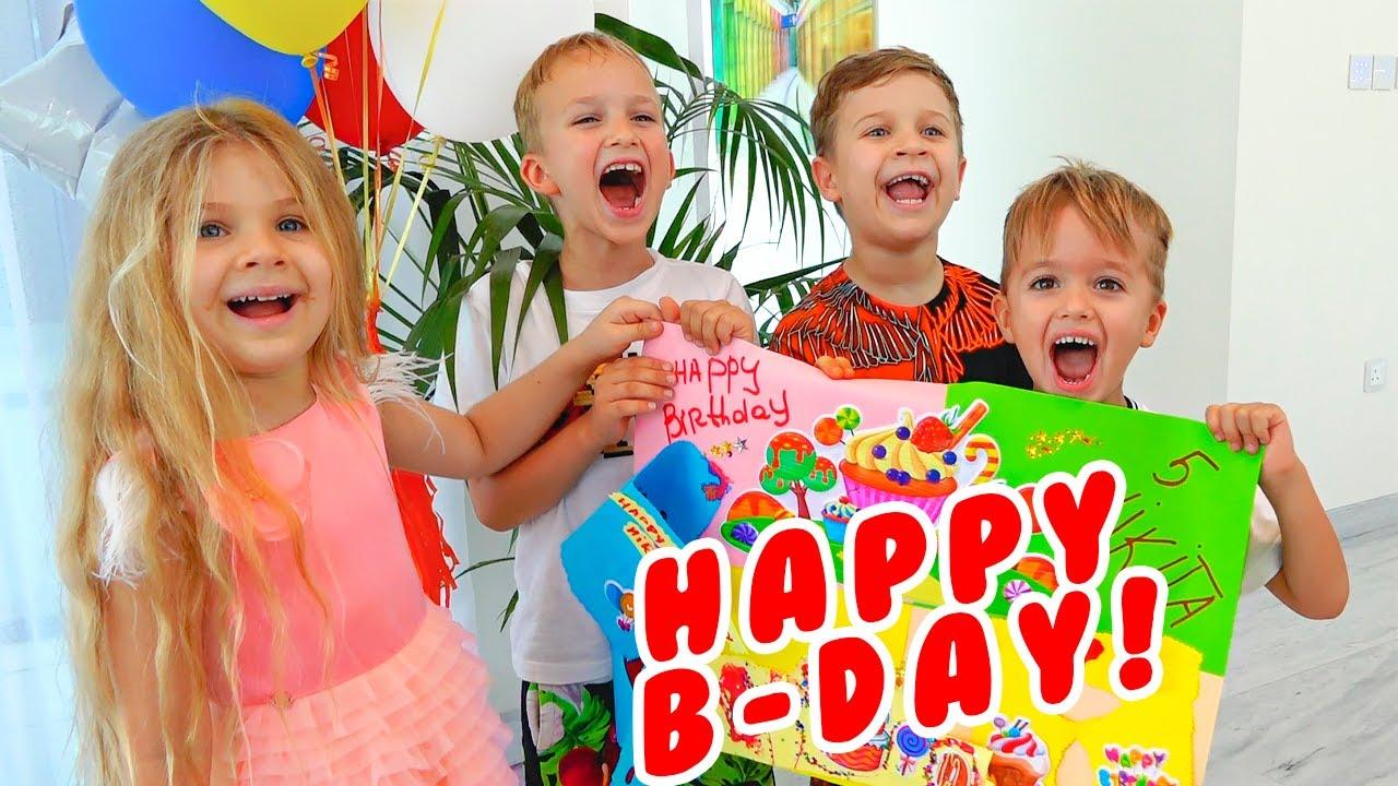 Selamat Ulang Tahun Niki! Pesta Ulang Tahun Anak Anak dengan Vlad, Diana dan Roma
