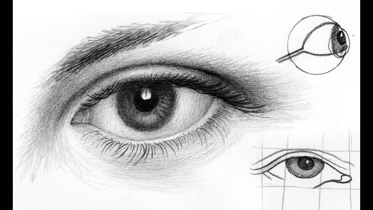 картинки глаз карандашом