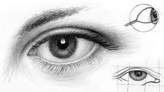 Уроки рисования. Как РИСОВАТЬ ГЛАЗ карандашом.