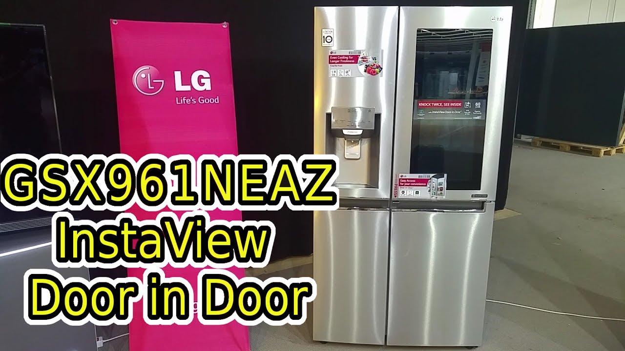 lg food center side by side gsx961neaz gsk6676sc instaview knock knock door in door wifi. Black Bedroom Furniture Sets. Home Design Ideas