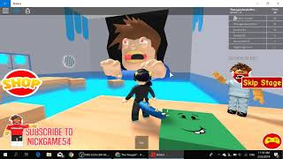 PLAYING ESCAPE THE DENTIST OBBY ON ROBLOX