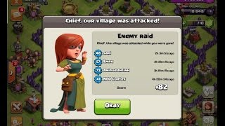 Clash of Clans LAYOUT TROLL CV7 Black hole + REPLAY