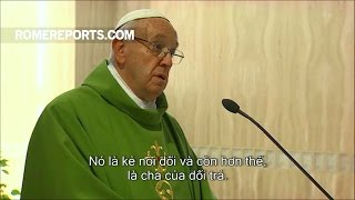 """Đức Giáo Hoàng cảnh báo: """"Để đánh bại ma quỷ, đừng nói chuyện với chúng"""""""
