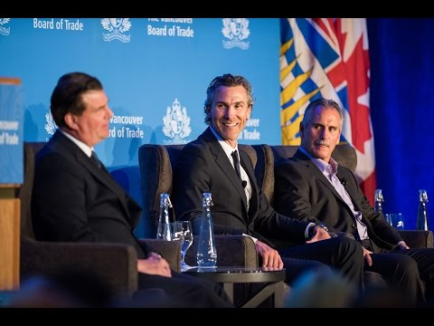 Vancouver Canucks top brass at The Vancouver Board of Trade