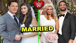 5 WWE Couples Who Got Married in 2020 - Seth Rollins & Becky Lynch Wedding, John Cena & Wife Wedding