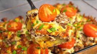 Запеченый картофель с фаршем отличный ужин для всей семьи Рецепт от Всегда Вкусно