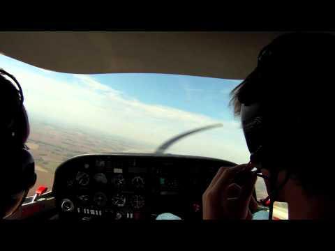 Future pilot first flight: Diamond DA-20 maneuvers and grass landing