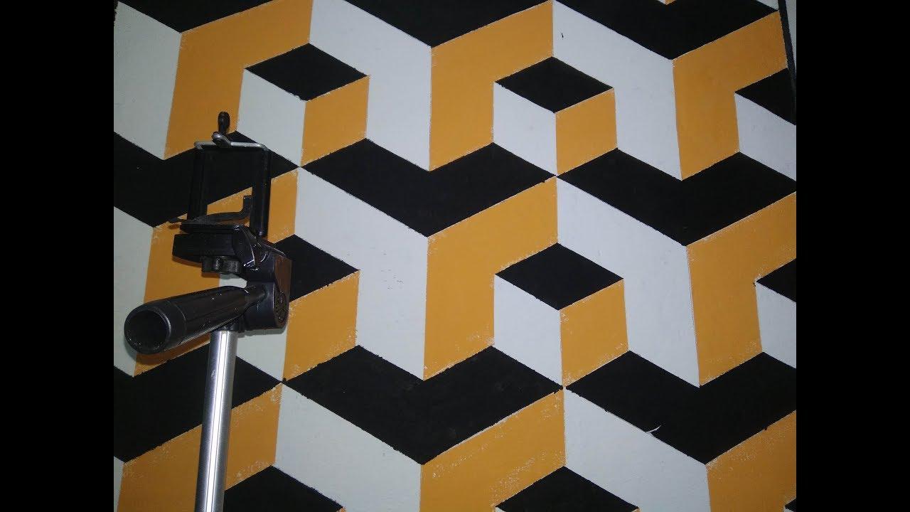 3D Wall Art Draw Painting Easy Lukisan Cat Dinding Cat Tembok Ruangan Tiga Dimensi Keren Mudah